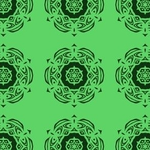 Tribal Medallion (green and black)
