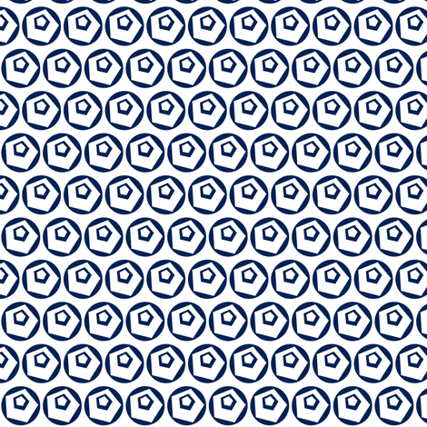 Geodot_navy_inverse fabric by courtandspark on Spoonflower - custom fabric
