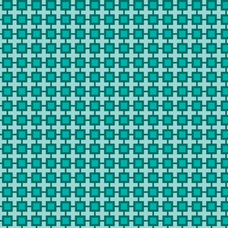 Family Feud (Blue-green) fabric by shannonmac on Spoonflower - custom fabric