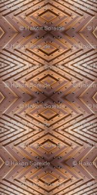 Wooden Door Fishbone Symmetry
