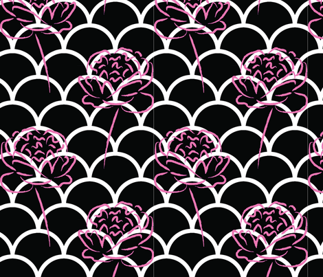 Pink Rose fabric by meaganrogers on Spoonflower - custom fabric