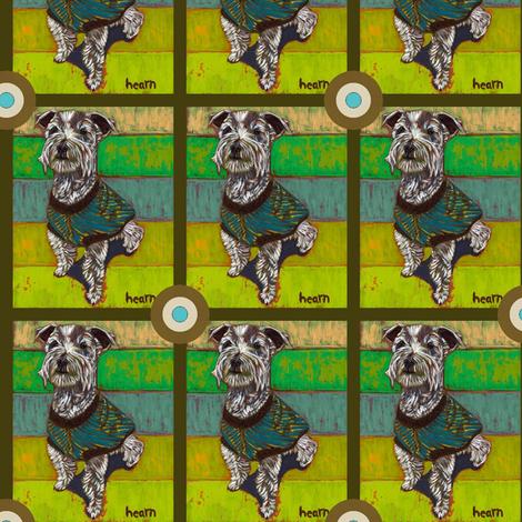 Miniature Schnauzer Bullseye fabric by david_kent_collections on Spoonflower - custom fabric