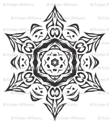 Snowflake Medallion (black and white)