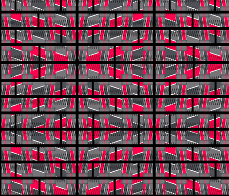 Caged Chaos fabric by anniedeb on Spoonflower - custom fabric
