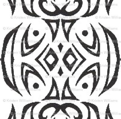 Tribal Stripes (black and white)