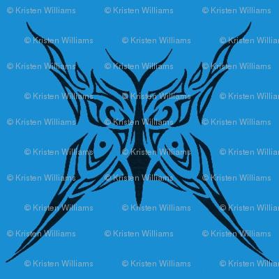 Tribal Butterfly (blue)