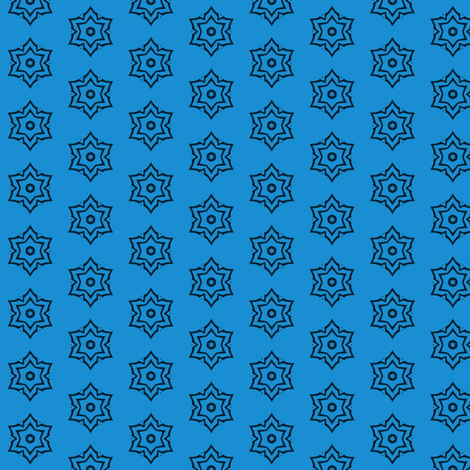 tribal snowflake star (blue) fabric by ladyleigh on Spoonflower - custom fabric