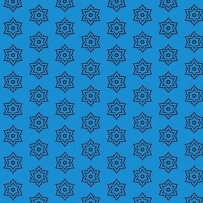 tribal snowflake star (blue)