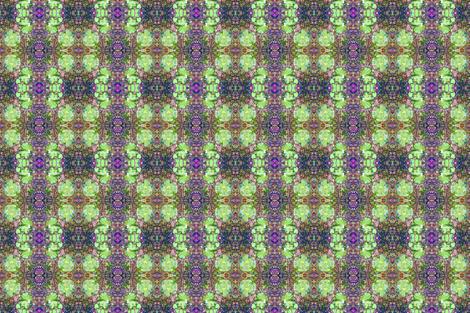 Fungi Kaleidoscope 2 - Meadow fabric by tequila_diamonds on Spoonflower - custom fabric