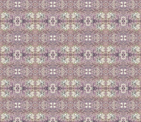 Fungi Kaleidoscope - Lavender fabric by tequila_diamonds on Spoonflower - custom fabric
