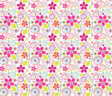 Inky Floral fabric by rosiesimons on Spoonflower - custom fabric