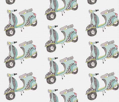 grey vespa fabric by pistoldaisie on Spoonflower - custom fabric