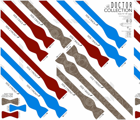 Bowtie DIY: Doctor Collection fabric by avelis on Spoonflower - custom fabric