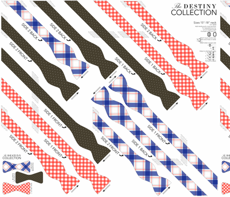 Bowtie DIY: Destiny Collection fabric by avelis on Spoonflower - custom fabric