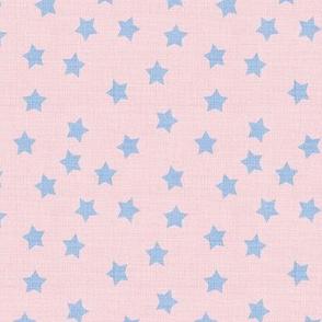 Stars Ditsy Desert Sunset Mauve Pink