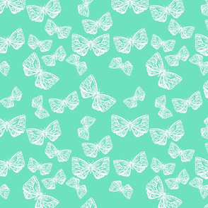Butterfly Motif in Mint