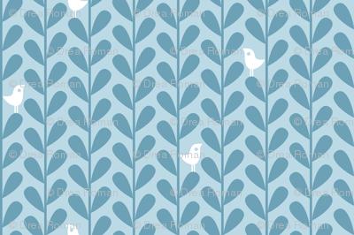 Crafty Coffee Cosies - Bird Leaf, Blue