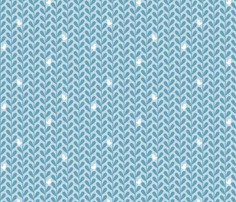 Crafty Coffee Cosies - Bird Leaf, Blue fabric by ttoz on Spoonflower - custom fabric