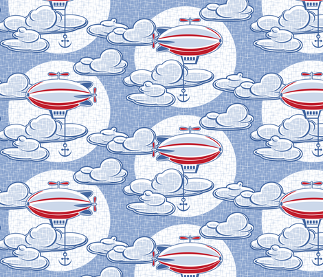 Airships fabric by cjldesigns on Spoonflower - custom fabric
