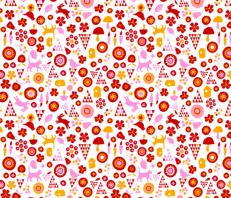 Sweets (red) fabric by pattern_bakery on Spoonflower - custom fabric