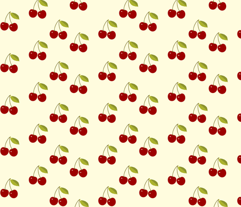 Sour Cherries fabric by kiki_ on Spoonflower - custom fabric