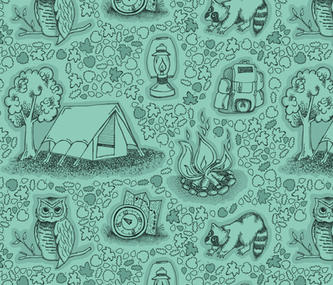 Camping Adventures fabric by run_quiltgirl_run on Spoonflower - custom fabric
