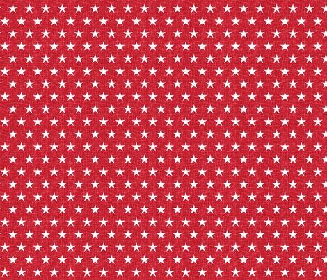 Small stars white on red fabric by cjldesigns on Spoonflower - custom fabric