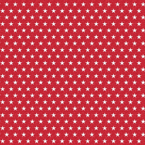 Small stars white on red
