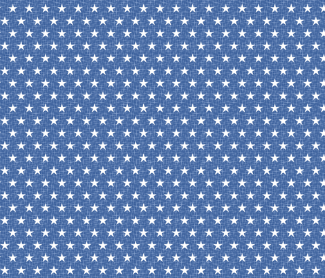 Small stars white on blue fabric by cjldesigns on Spoonflower - custom fabric