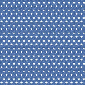 Small stars white on blue