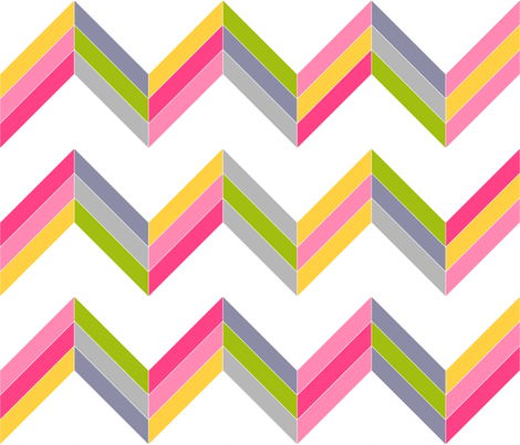Warm/Cool Chevron Cheater Quilt fabric by patchinista on Spoonflower - custom fabric