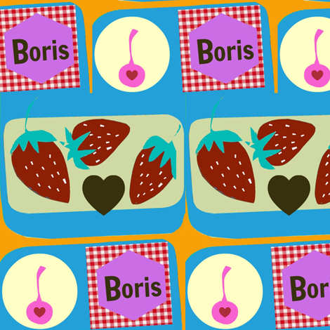 Boris Cherry Berry fabric by boris_thumbkin on Spoonflower - custom fabric
