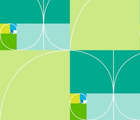 fibonacci divine portion curve fabric by veerapfaffli on Spoonflower - custom fabric