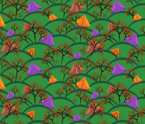 crazy camping fabric by melachmulik on Spoonflower - custom fabric