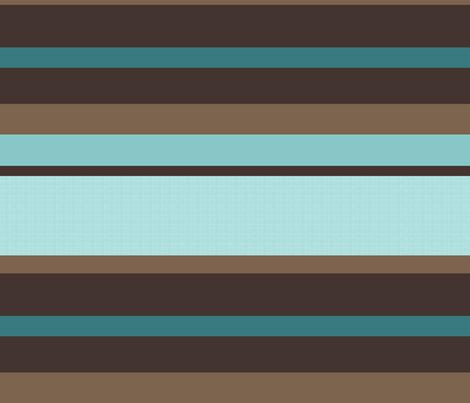 Cyan Stripes fabric by brainsarepretty on Spoonflower - custom fabric