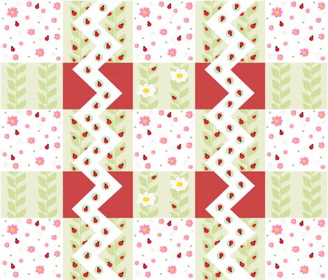 Ladybug Cheater Quilt fabric by taramcgowan on Spoonflower - custom fabric