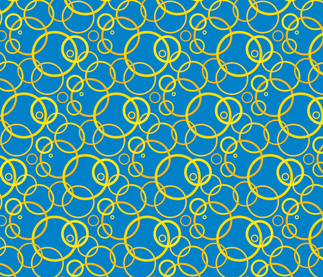 Sunny day rings - dark blue fabric by victorialasher on Spoonflower - custom fabric