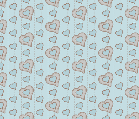 Orbeez_fabric_stitched_hearts_02 fabric by woodmouse&bobbit on Spoonflower - custom fabric