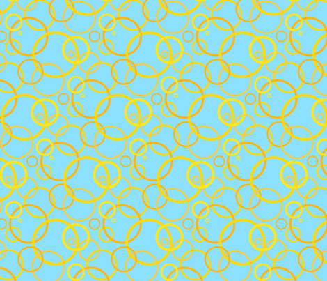 Sunny day rings - light blue fabric by victorialasher on Spoonflower - custom fabric