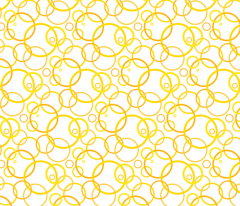 Sunny day rings - white fabric by victorialasher on Spoonflower - custom fabric