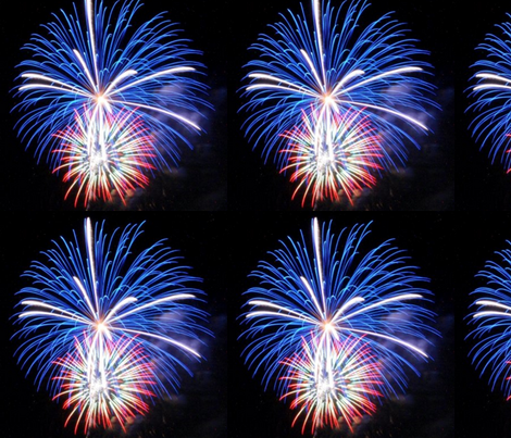 July 4th fireworks fabric by kaynoh on Spoonflower - custom fabric