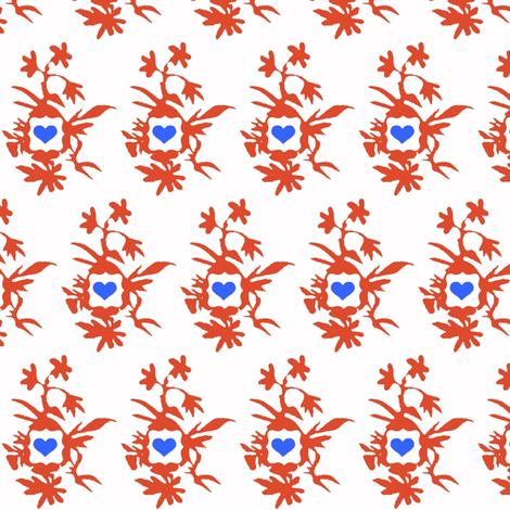 Botanically Framed Hearts fabric by boris_thumbkin on Spoonflower - custom fabric