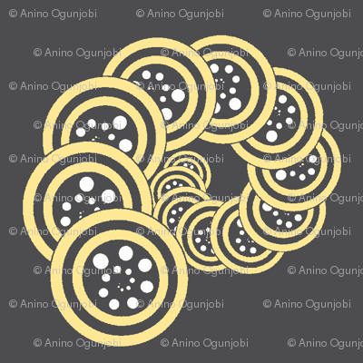spiral_geo- grey, yellow, white