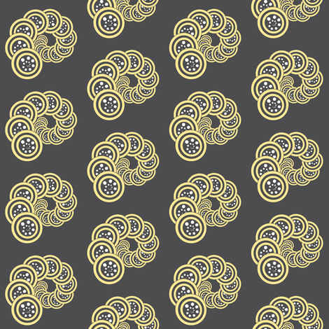 spiral_geo- grey, yellow, white fabric by anino on Spoonflower - custom fabric