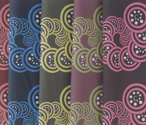 spiral_geo- chocolate, dusty pink, white