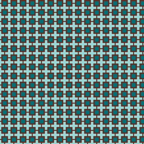 Family Feud (Blue-green/Brown) fabric by shannonmac on Spoonflower - custom fabric