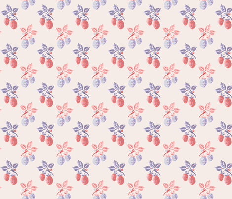 Marie Antoinette Strawberries fabric by mellymellow on Spoonflower - custom fabric
