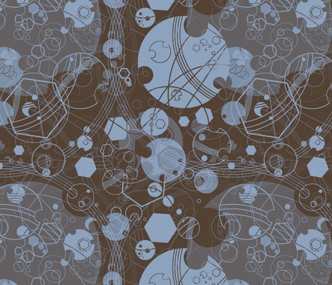 Fabric of Rassilon X fabric by felis_astrum on Spoonflower - custom fabric