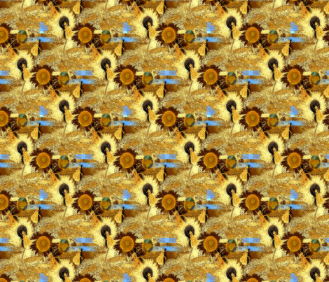 A Circle of Bees fabric by anniedeb on Spoonflower - custom fabric