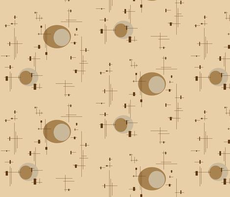 globe fabric by retroretro on Spoonflower - custom fabric